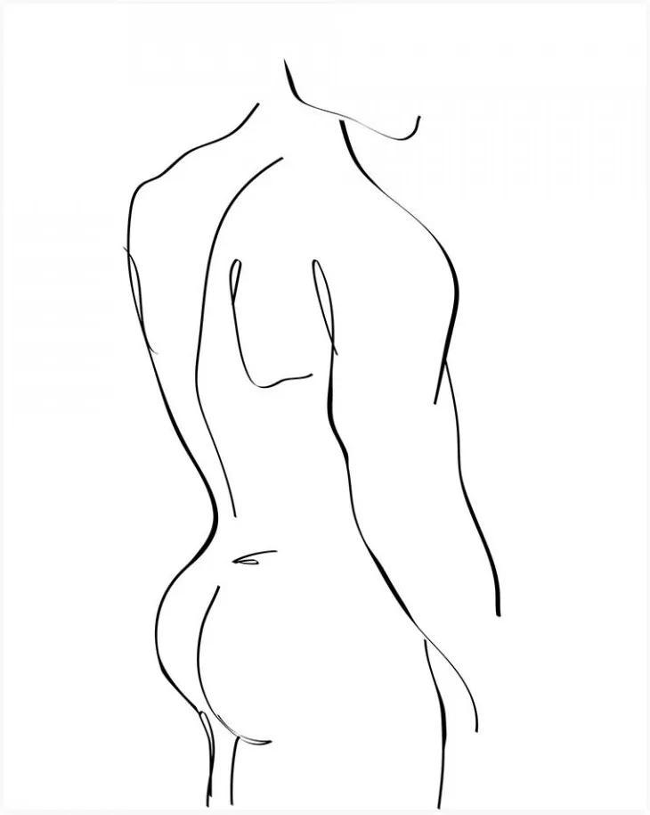 Poster alb/negru 30x40 cm Male