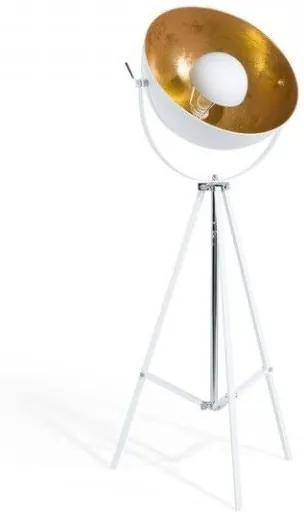 Lampadar Thames II din metal, alb/ auriu, 165 cm
