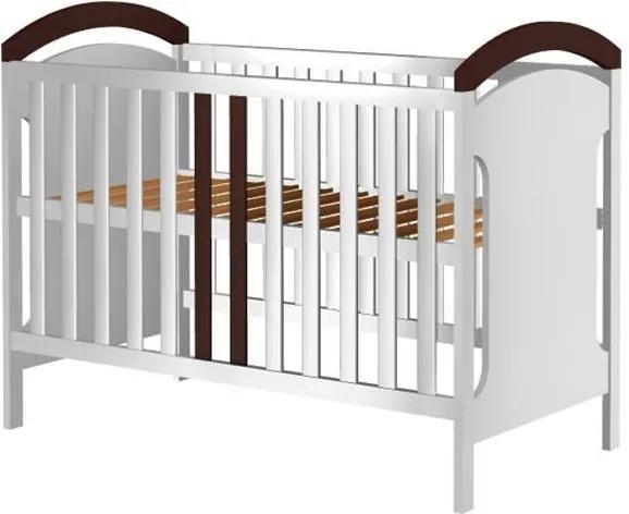 Patut din lemn Copii Hubners Hansell 120x60 cm alb-venghe