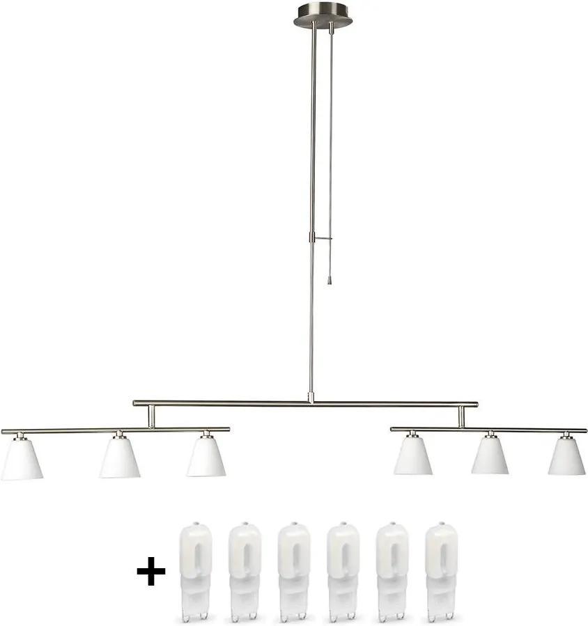 LED lustra AMIN 6xG9/28W+6xG9/5W/230V