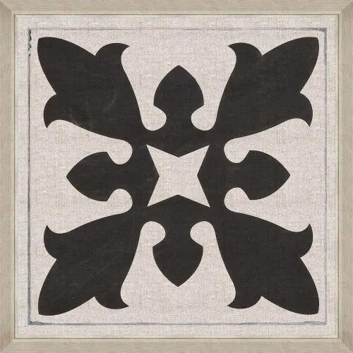 Tablou Framed Art Black Tile II