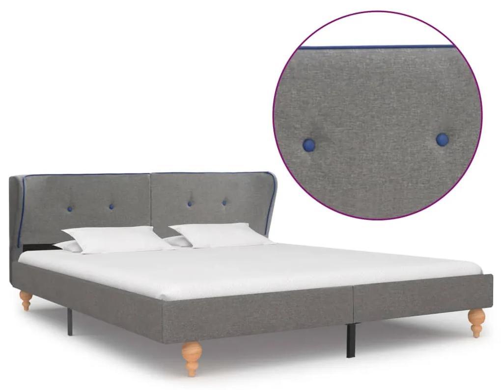 280576 vidaXL Cadru de pat, gri deschis, 180 x 200 cm, material textil