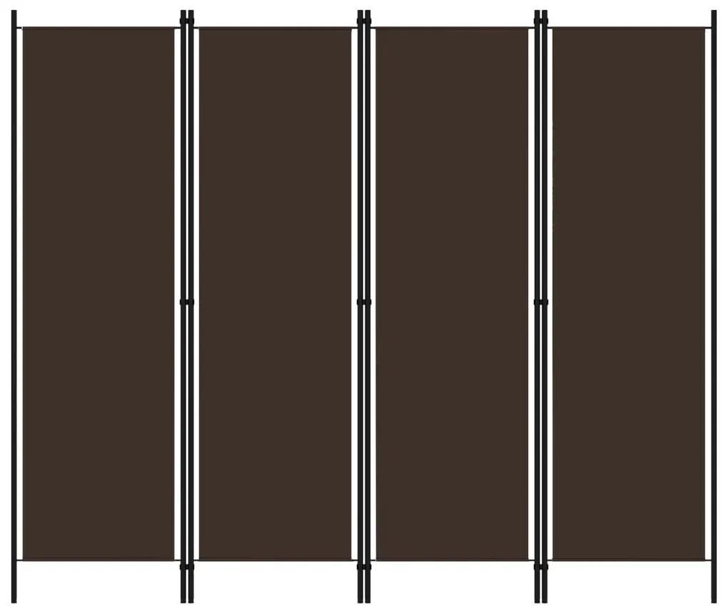 320720 vidaXL Paravan de cameră cu 4 panouri, maro, 200 x 180 cm