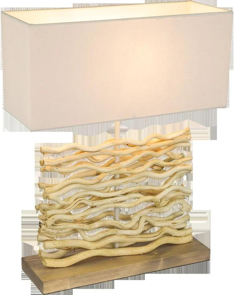 Globo 21647 Lampa de masa de noapte JAMIE Lemn IP20