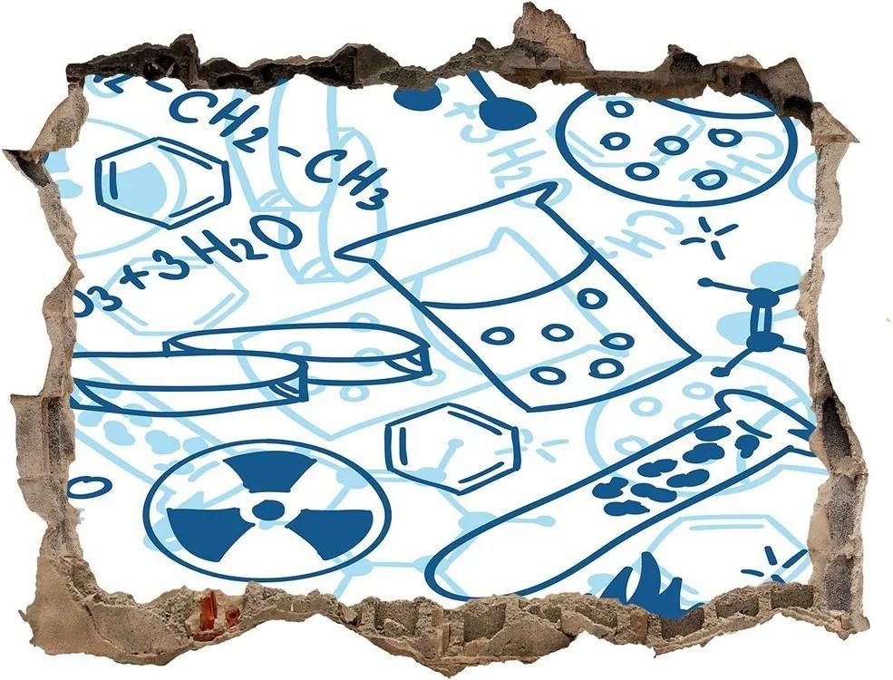 Autocolant autoadeziv gaură Fundal chimie
