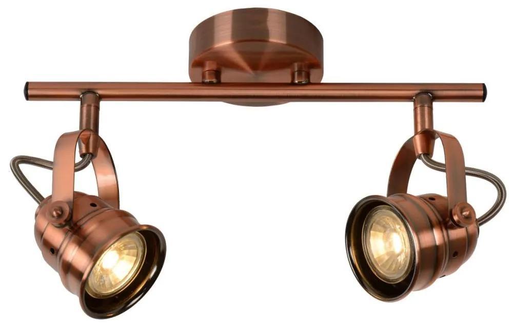 Lucide 77974/10/17 - Spot LED CIGAL 2xGU10/5W/230V de cupru