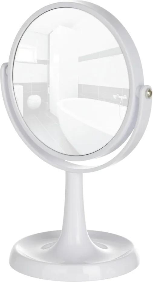 Oglindă cosmetică Wenko Rosolina, înălțime 28 cm, alb