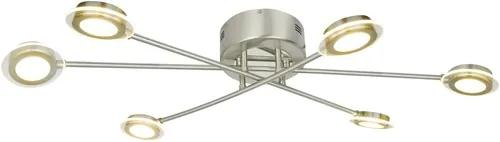 Plafoniera cu LED integrat Calla 6x5W, nichelata