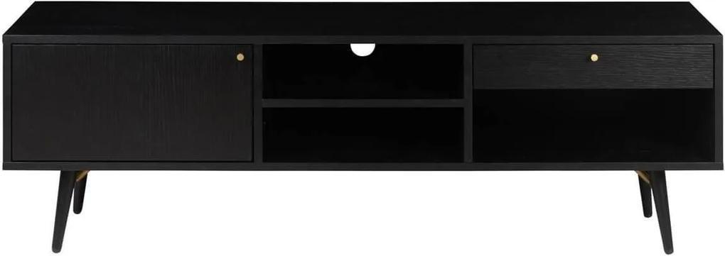 Comoda TV VERO - Lemn Negru Lungime(117cm) x Latime(40cm) x Inaltime(50cm)