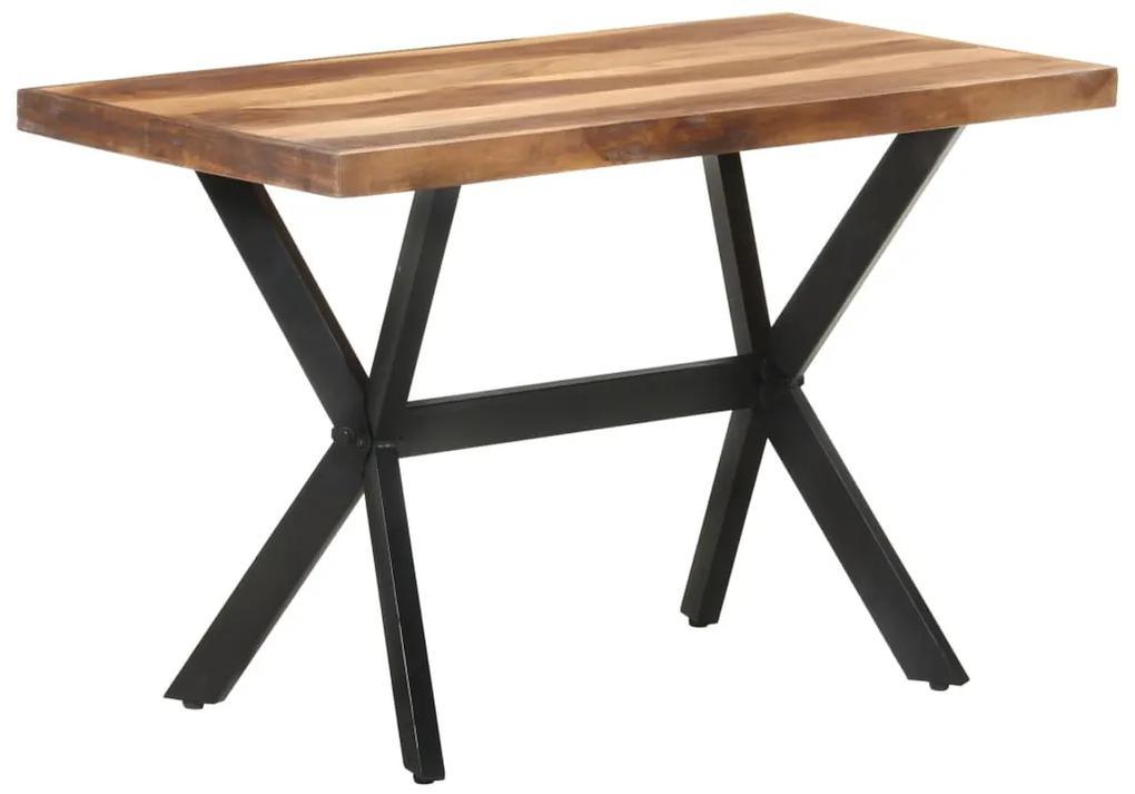 321545 vidaXL Masă de bucătărie, 120x60x75 cm, lemn masiv finisaj sheesham