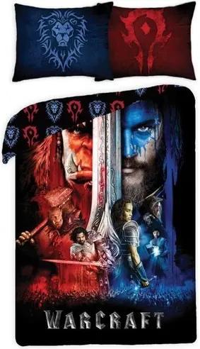 Lenjerie de pat din bumbac, pentru copii, Warcraft 0025, 140 x 200 cm, 70 x 90 cm