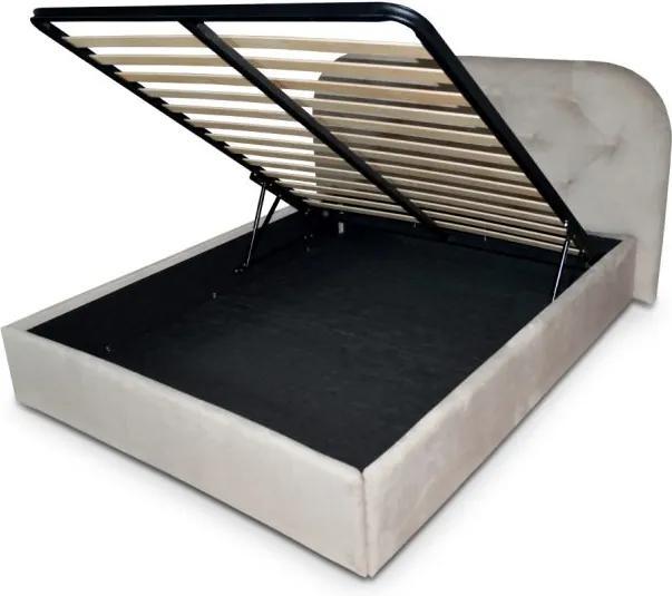 Pat tapitat somiera metalica rabatabila inclusa, dimensiune 140x200, material si culoare la alegere – Model Cellino