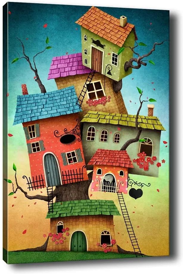 Tablou Tablo Center Tree Houses, 40 x 60 cm