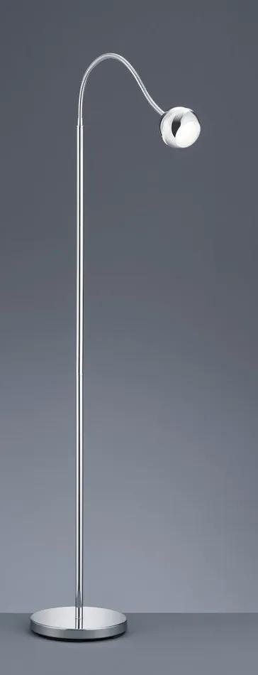 Trio 428210106 Lampadare BALOUBET crom plastic incl. 1 x SMD, 3,8W, 3100K, 350Lm 240lm 2700K IP20
