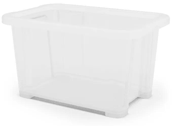 Cutie Plastic Transparent 1litru 17.7x11.75x9.8 cm
