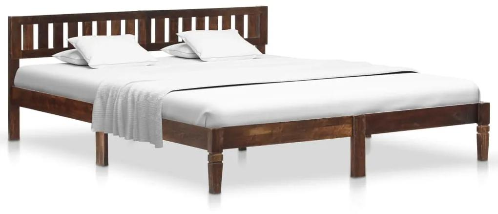 288408 vidaXL Cadru de pat, 180 cm, lemn masiv de mango