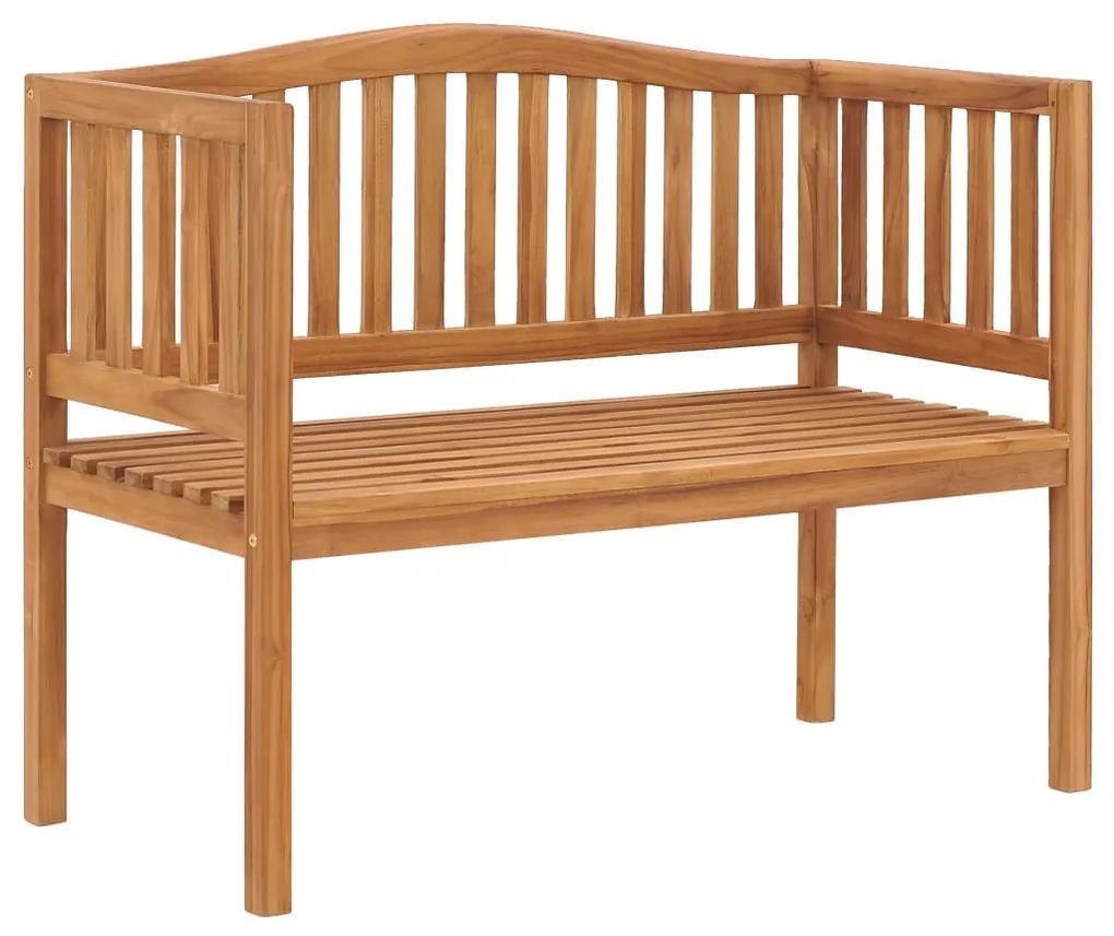 49358 vidaXL Bancă de grădină, 120 cm, lemn masiv de tec