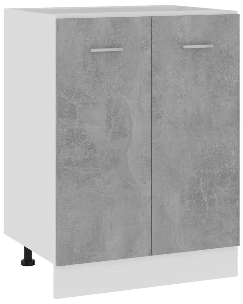 801192 vidaXL Dulap inferior, gri beton, 60 x 46 x 81,5 cm, PAL