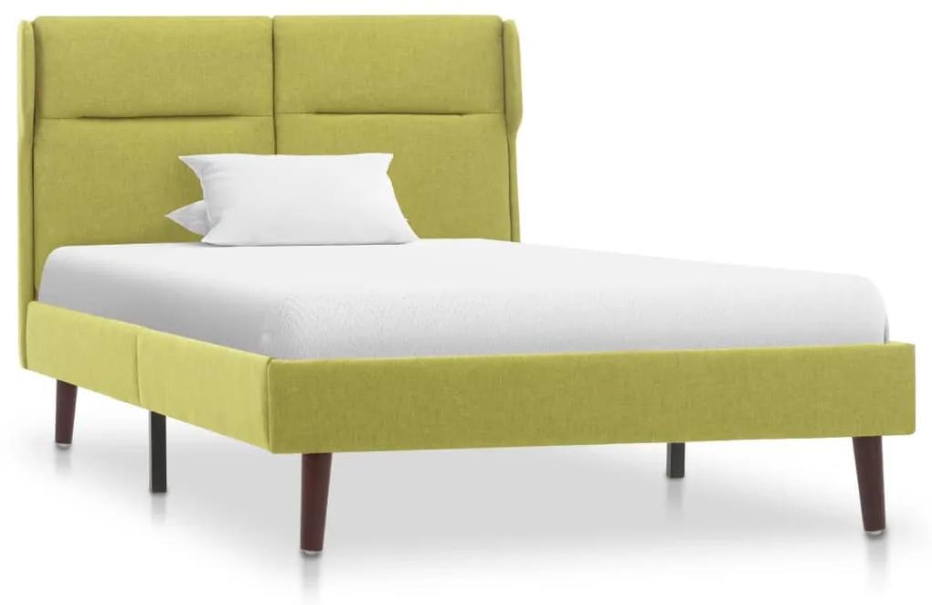 286871 vidaXL Cadru de pat, verde, 90 x 200 cm, material textil