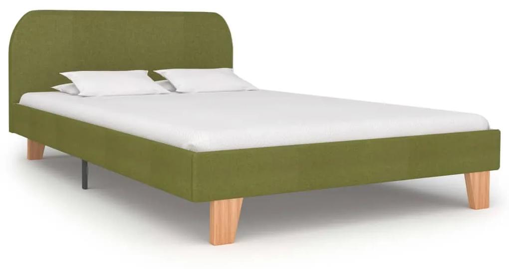 280882 vidaXL Cadru de pat, verde, 120 x 200 cm, material textil