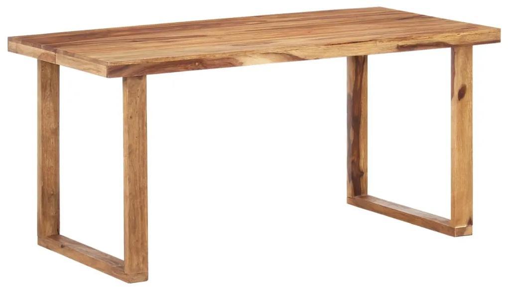 287355 vidaXL Masă de bucătărie, 160 x 80 x 76 cm, lemn masiv de sheesham