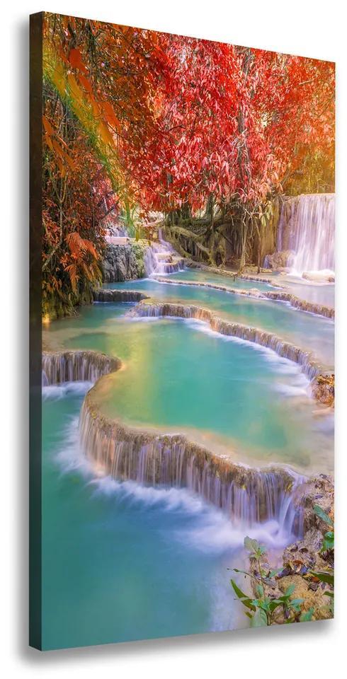 Imprimare tablou canvas Cascada în toamna