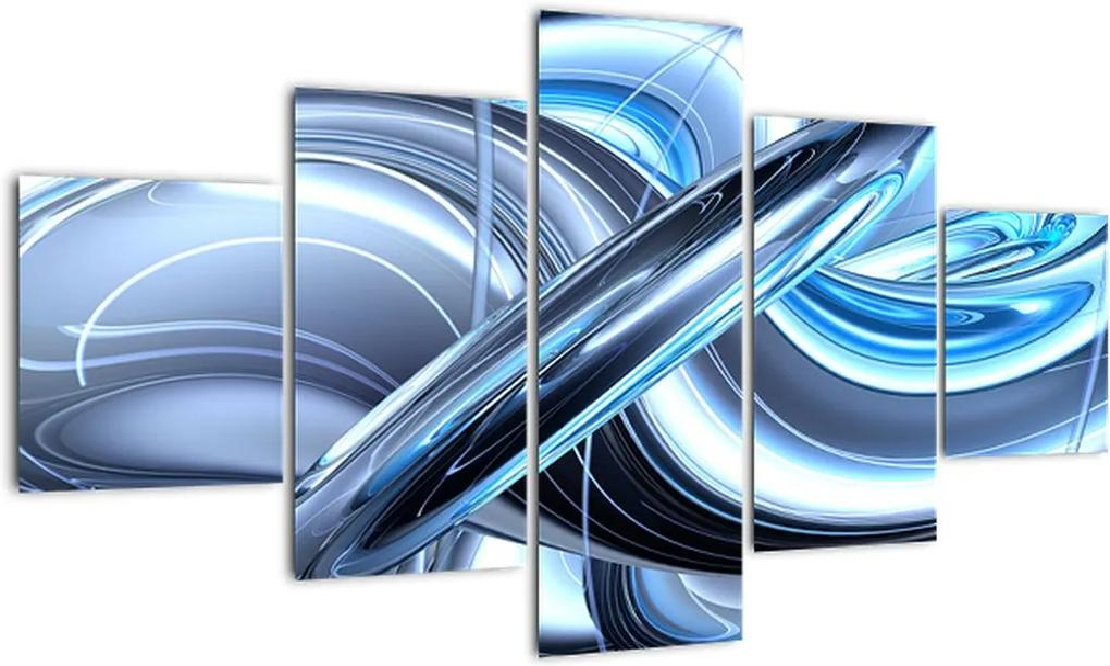 Tablou cu abstracție albastră (125x70 cm), în 40 de alte dimensiuni noi