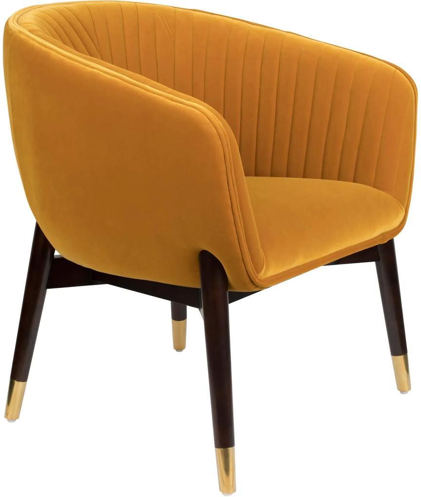 Fotoliu lounge catifea ocru Dolly Lounge Chair Ochre | DUTCHBONE