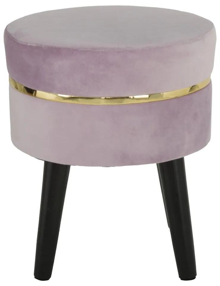 Taburet Mauro Ferretti Paris, roz pudră