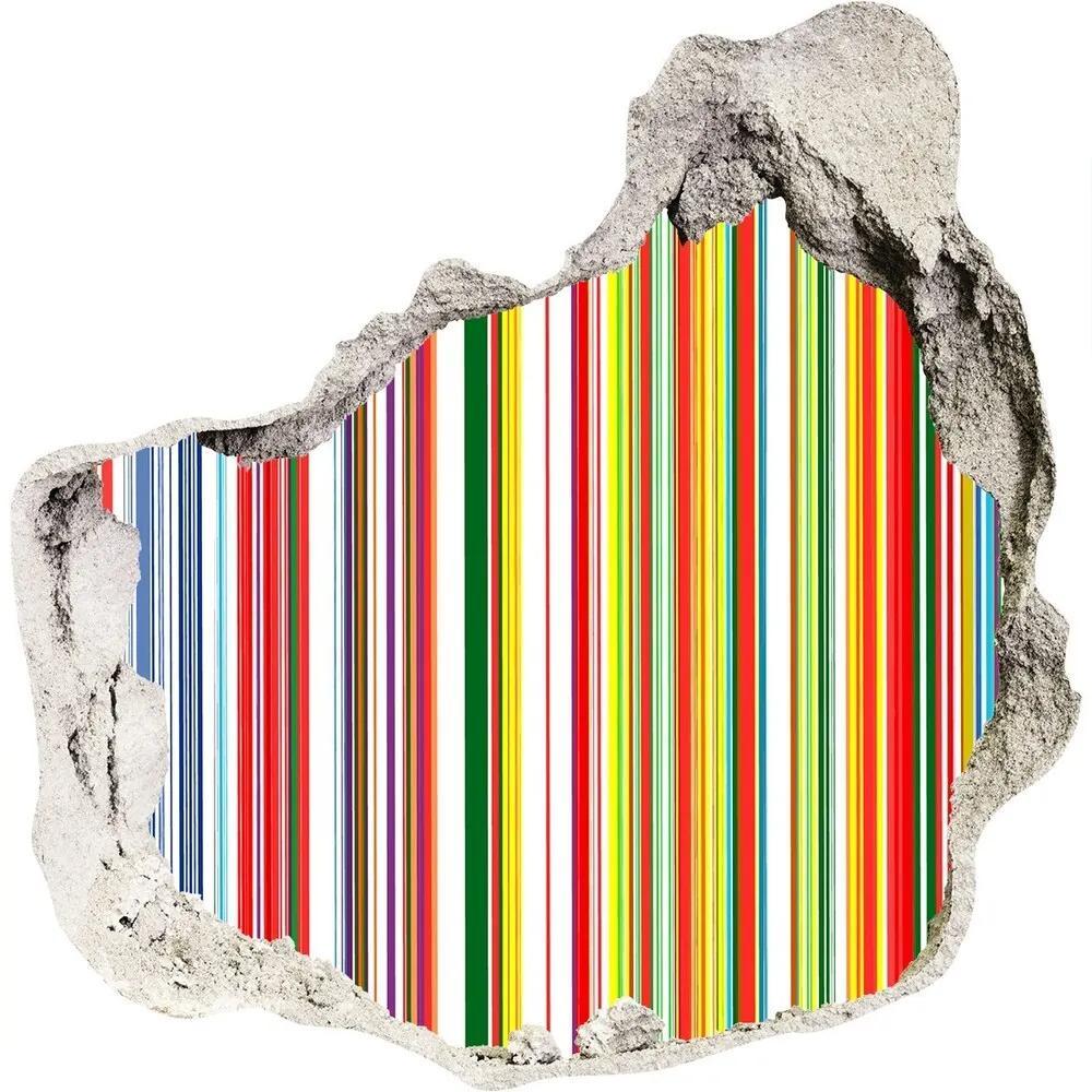 Fototapet un zid spart cu priveliște Dungi colorate