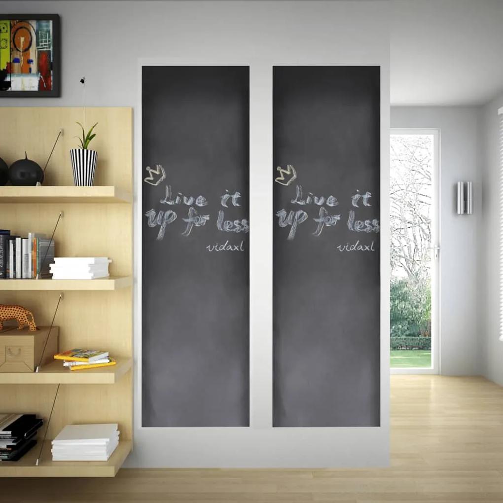 140897 vidaXL Tablă sticker autocolant pentru perete cu cretă, 0,45 x 2 m, 2 bucăți