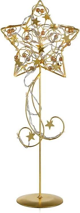 Decorațiune luminoasă cu LED Markslöjd Hagaberg Gold, înălțime 45 cm