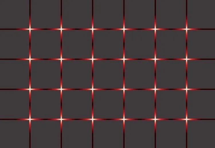 Modern Square Design Red Lights Fototapet, (152.5 x 104 cm)