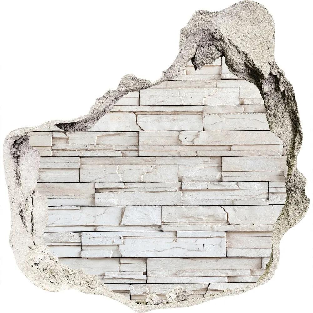 Autocolant autoadeziv gaură Zid de piatra alba