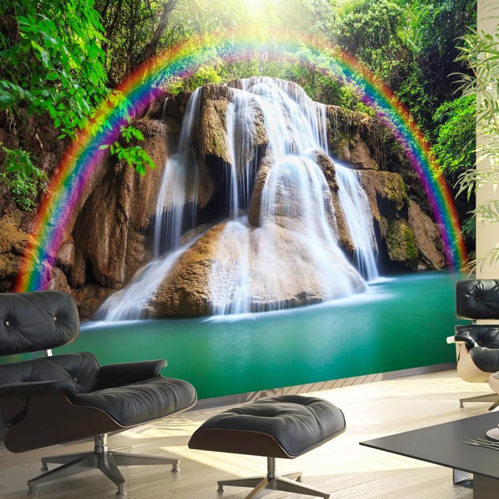 Fototapet Bimago - Waterfall of Fulfilled Wishes + Adeziv gratuit 300x210 cm