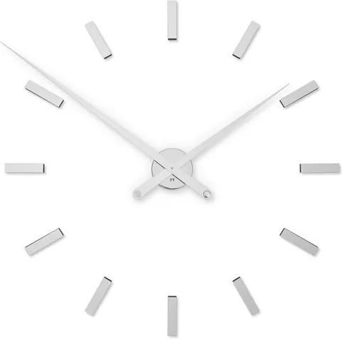 Ceas de perete Future Time FT9100SI Modular chrome, de design, autoadeziv, diam. 85 cm
