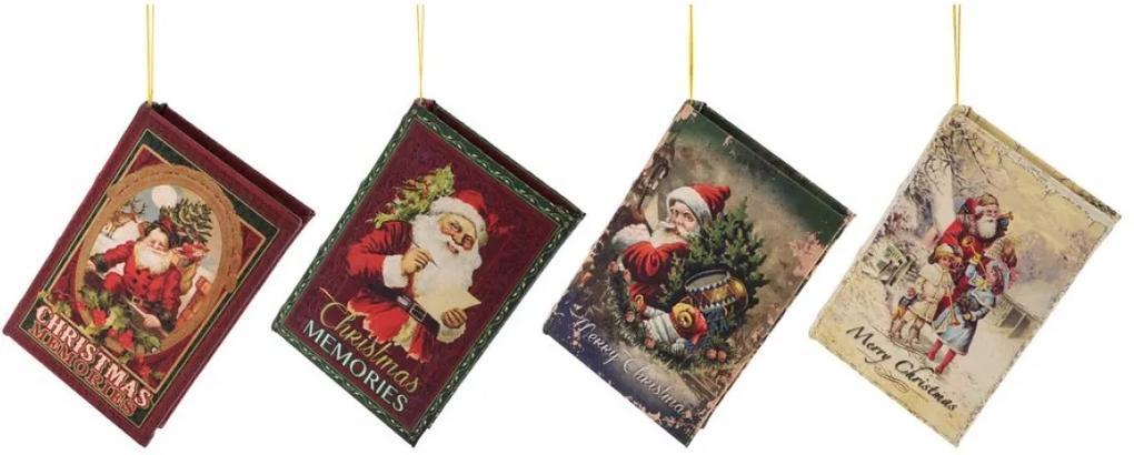 Ornament pentru bradul de Craciun 4 carti