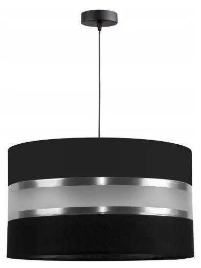 Lustră pe cablu CORAL 1xE27/60W/230V negru
