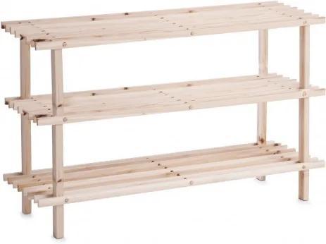 Suport pentru incaltaminte, din lemn, 2-Natural Wood, l80xA26xH49,5 cm