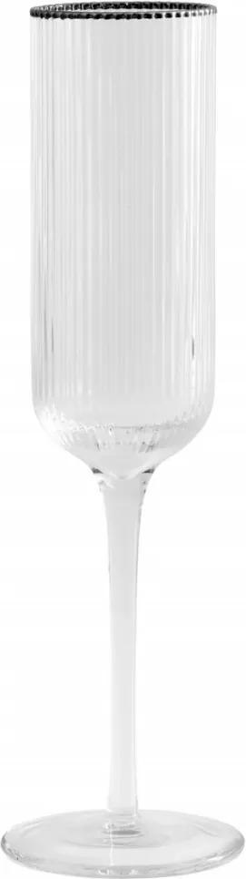 Pahar de Sampanie Rilly - Sticla Transparent Inaltime(24.5 cm) x Diametru(5 cm)