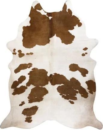 Covor Artificial Cowhide, Vaca G5069-2 alb maro din piele 100x150