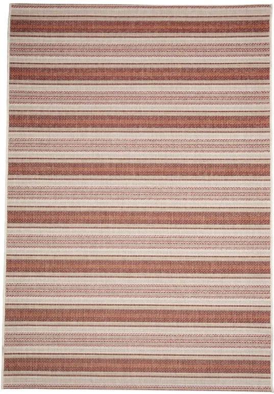 Covor adecvat pentru exterior Floorita Riga, 160 x 230 cm, bej - roșu