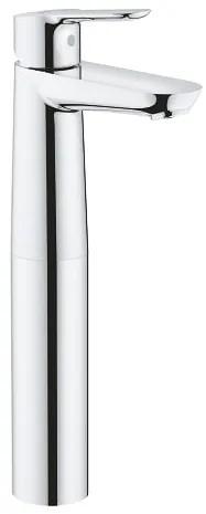 Baterie lavoar Grohe BauEdge XL, montare blat, crom,furtune flexibile-23761000