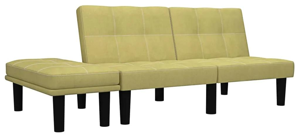 284753 vidaXL Canapea cu 2 locuri, verde, material textil