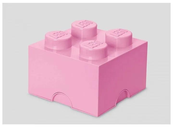 LEGO - Cutie depozitare 2x2, Roz deschis