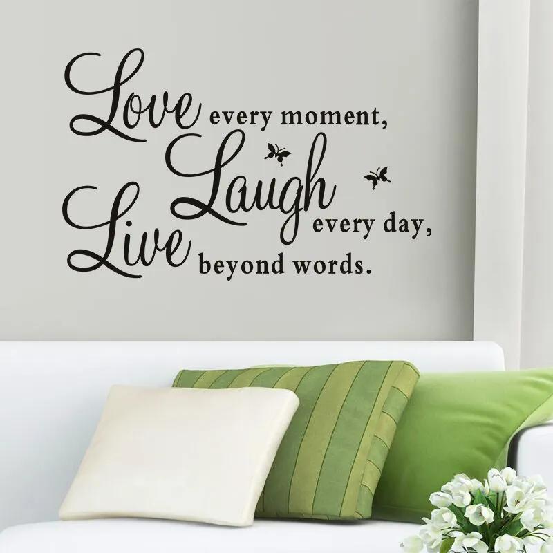 "Autocolant de perete ""Viață, râs, iubire"" 50x70 cm"