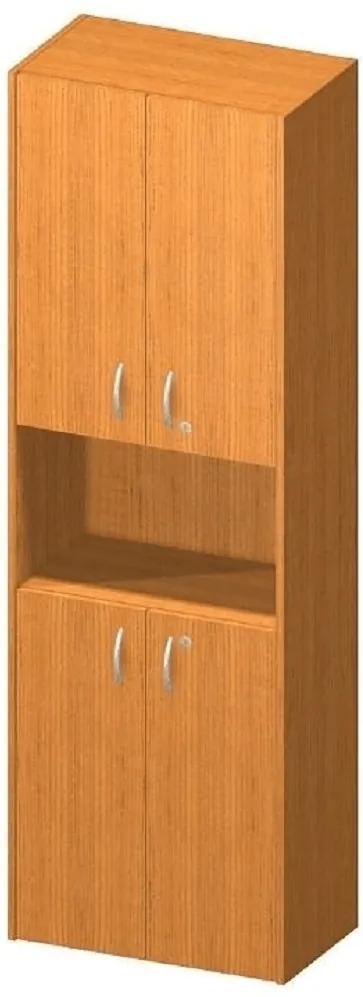 Dulap cu 4 uşi şi 1 nişă, cireş, TEMPO ASISTENT NEW 003