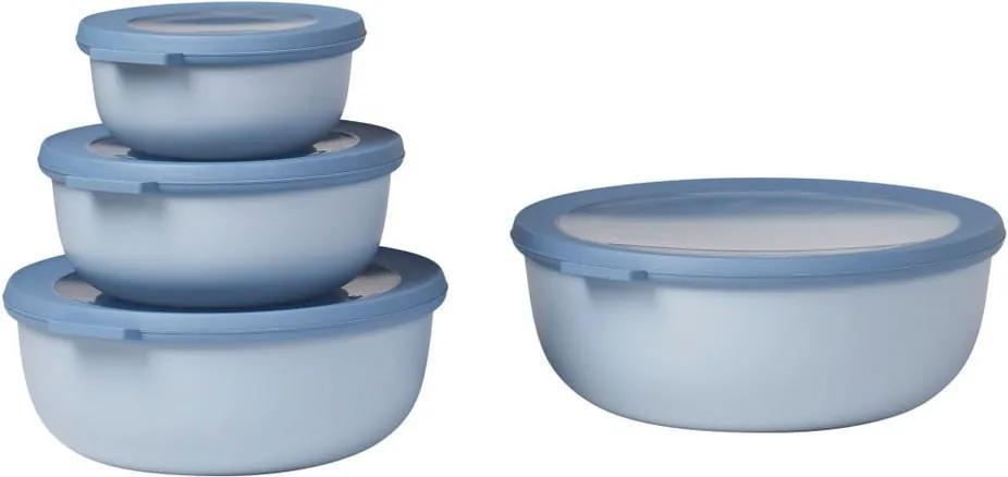 Set 4 cutii pentru gustări Rosti Mepal Nordic, albastru