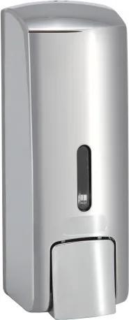 Dispenser sapun lichid Bemeta Hotel plastic crom patinat 65 x 185 x 75 mm, 300 ml