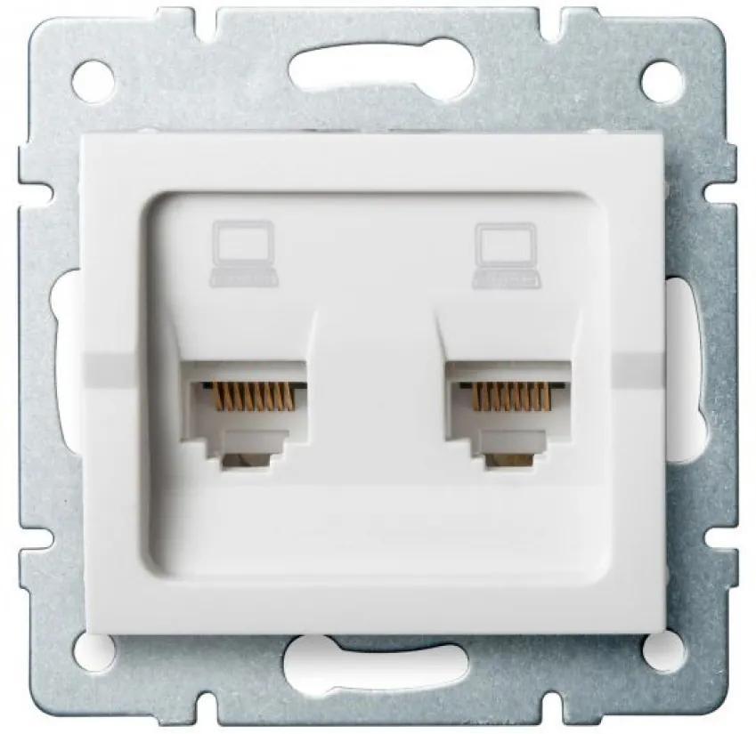 Kanlux 25110 Conector priză Logi alb
